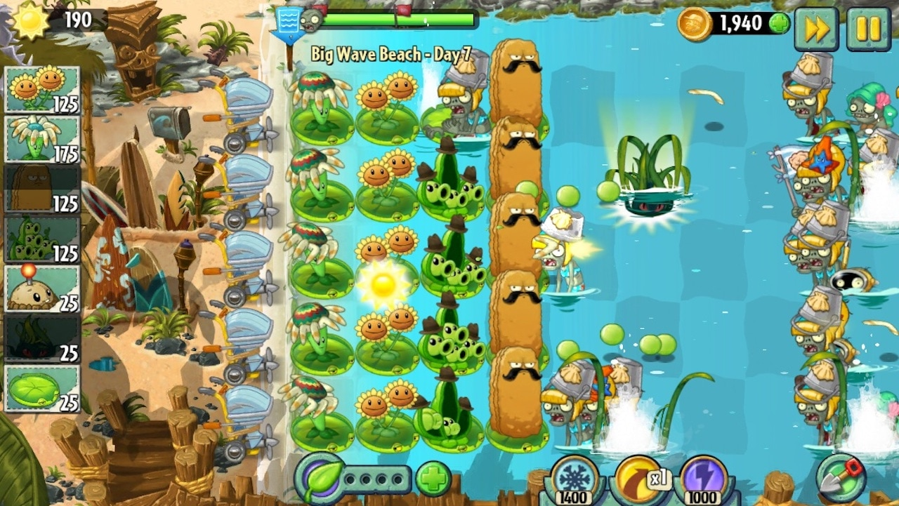 Plants vs Zombies 2 gameplay