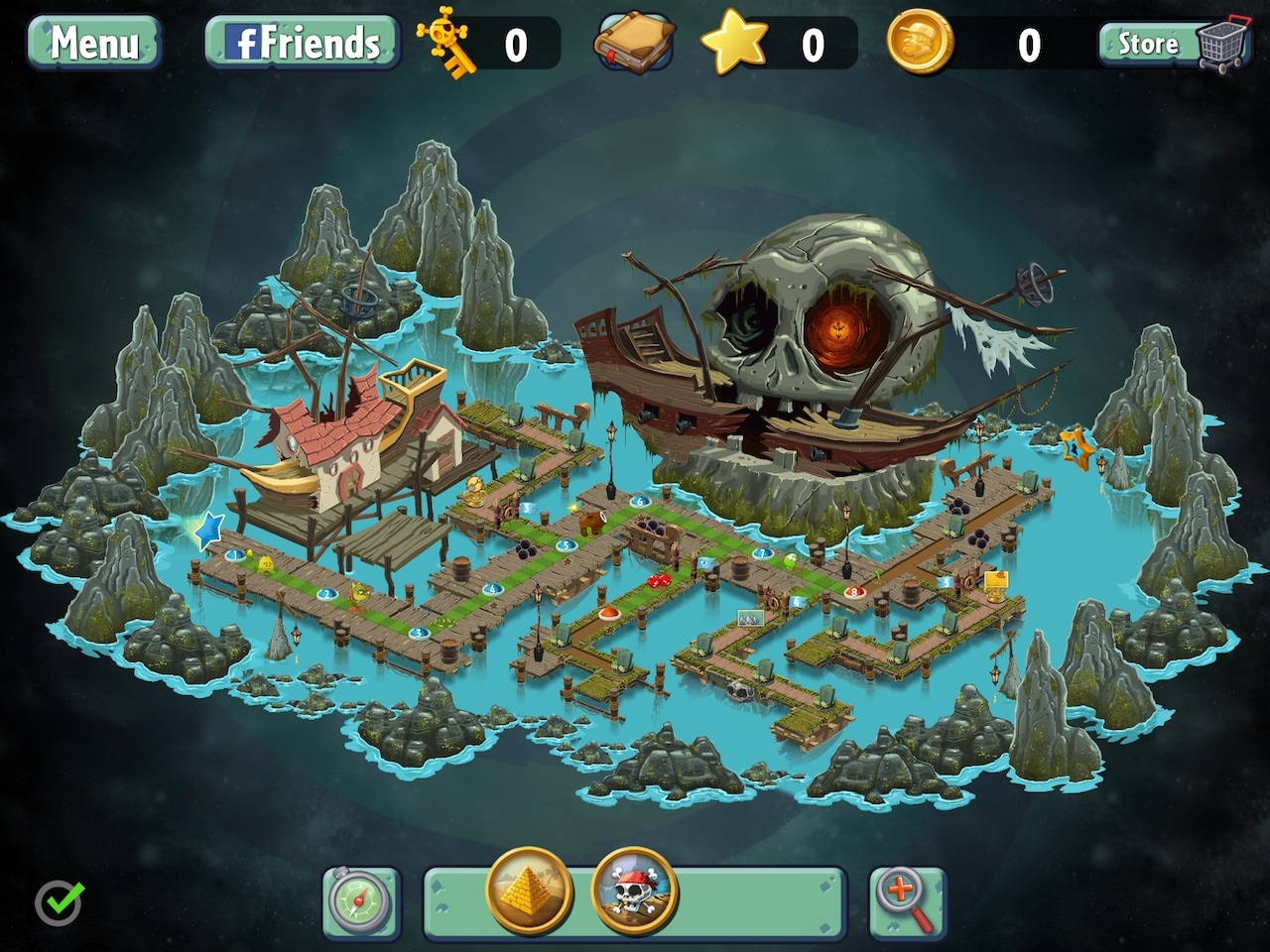 plants vs zombies 2 maps