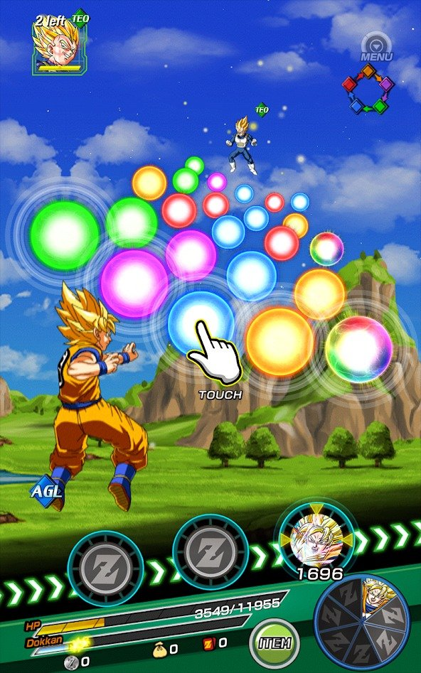 Dragon Ball Z Dokkan Battle graphics