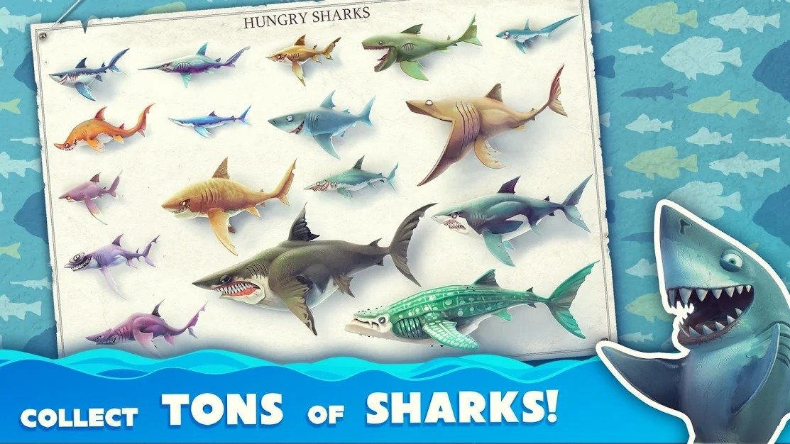 Hungry Shark World sharks