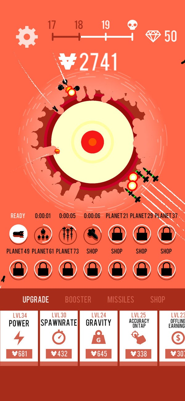 Planet Bomber graphics