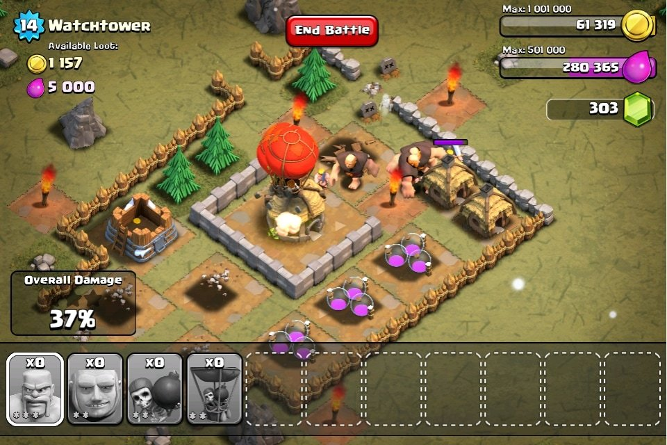 clash of clans attack