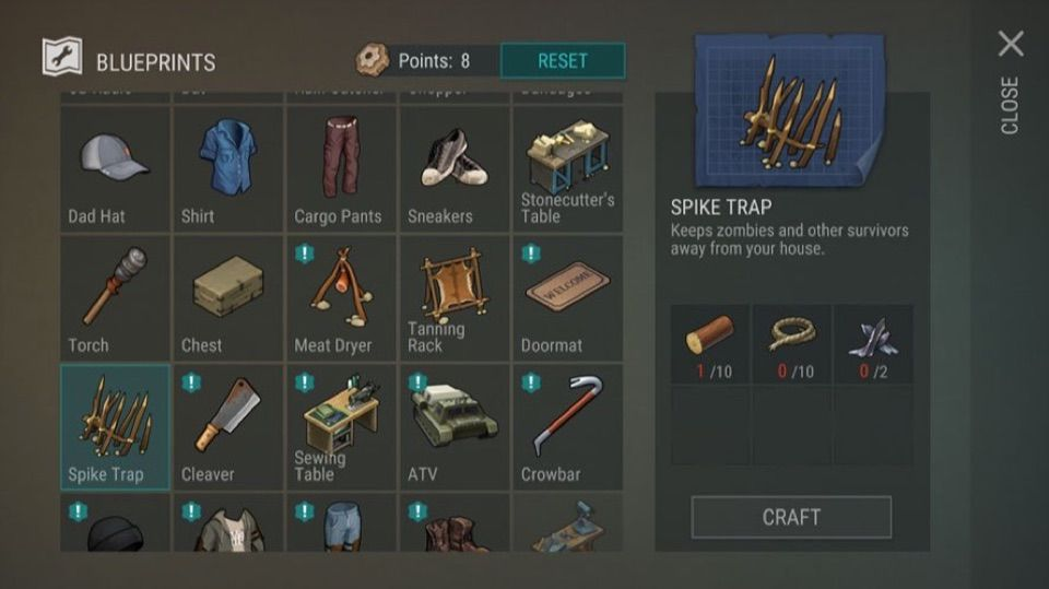 last day on earth items