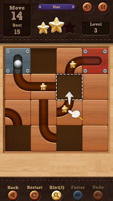 rolar a bola slide puzzle 3