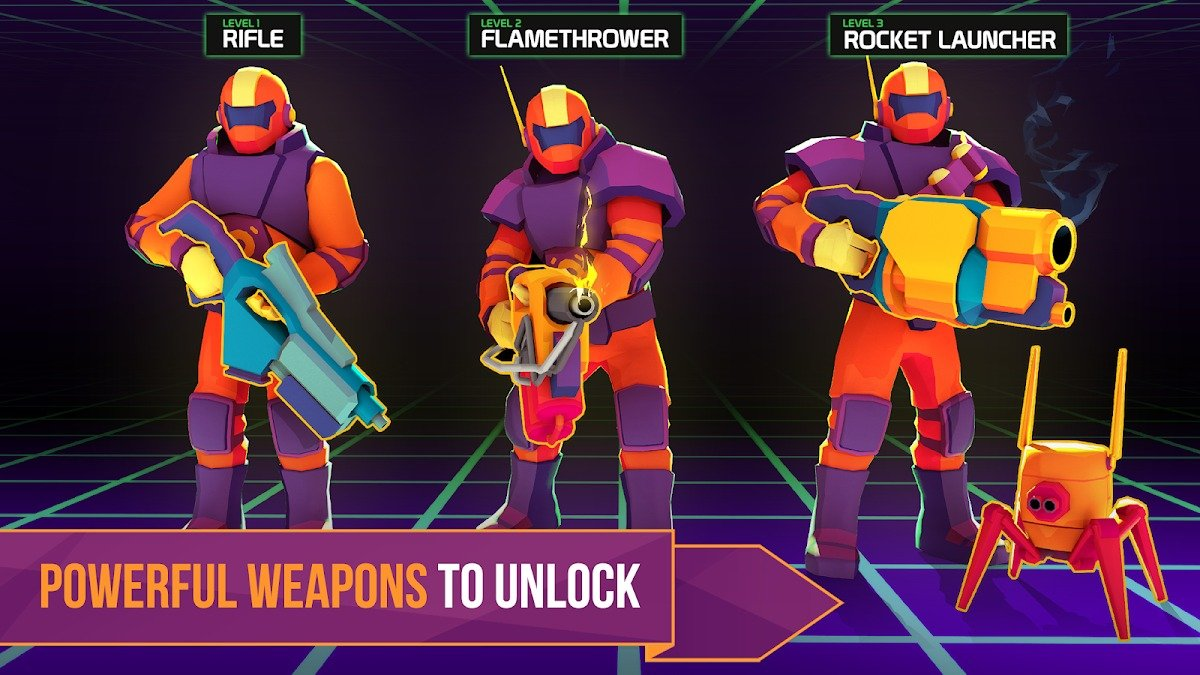Space Pioneer weapons