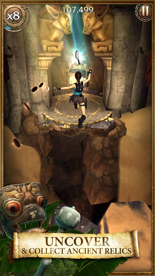 Lara Croft Relic Run graphics