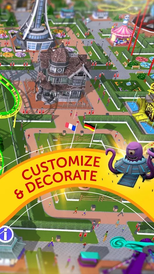 RollerCoaster Tycoon Touch gameplay