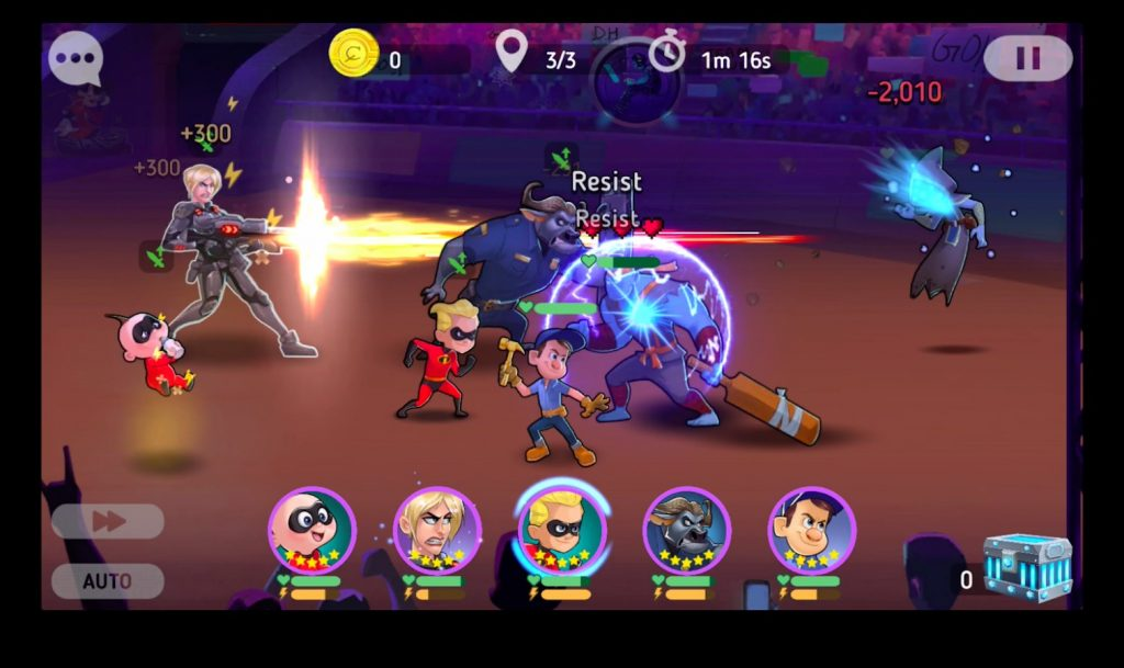 Disney Heroes Battle Mode gameplay
