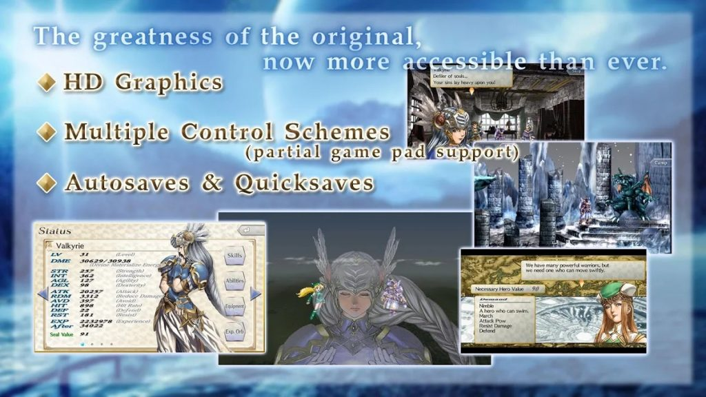 Valkyrie Profile Lenneth graphics 1024x576