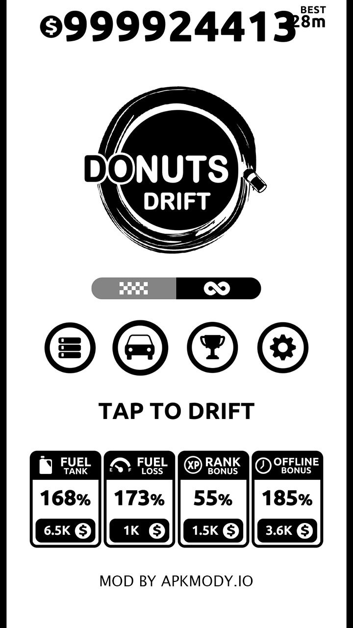 Donuts Drift MOD Unlimited Money
