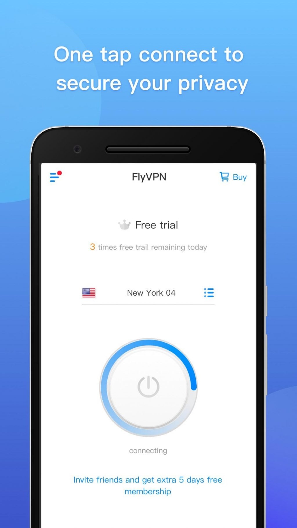 FlyVPN Easy to connect 1024x1820