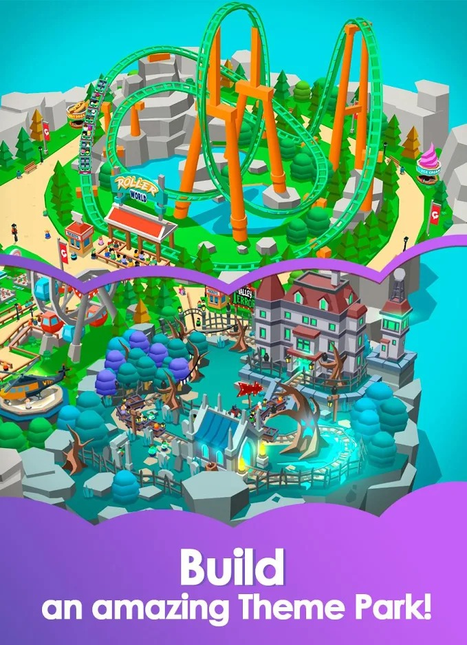 Idle Theme Park Tycoon building