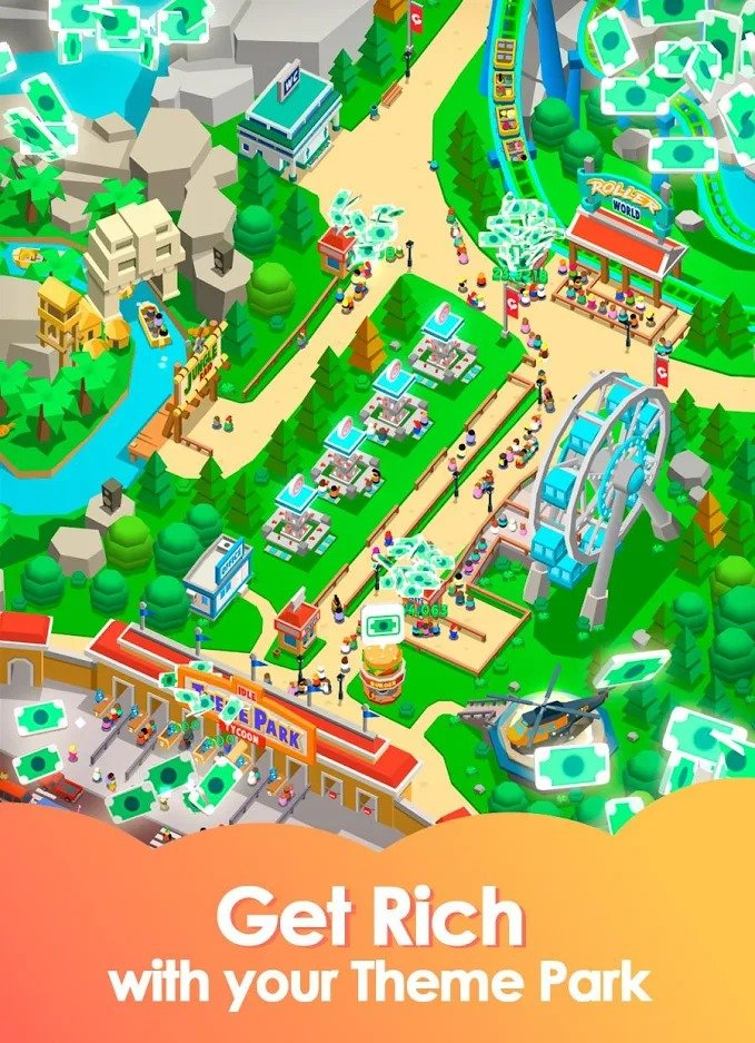 Idle Theme Park Tycoon graphics