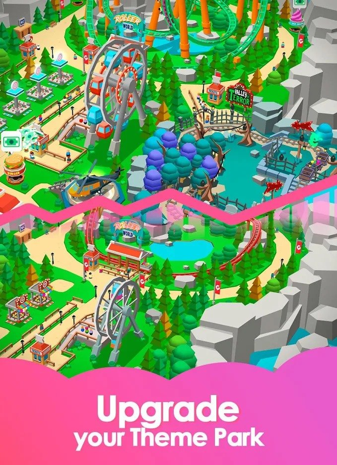 Idle Theme Park Tycoon MOD APK v1 27 (Unlimited Money) Download