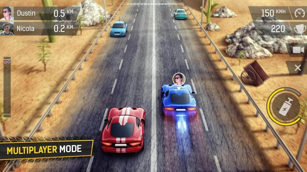 Racing Fever multiplayer mode 1024x576