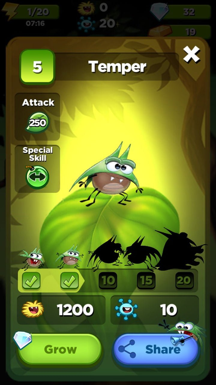 Best Fiends Grow Bug
