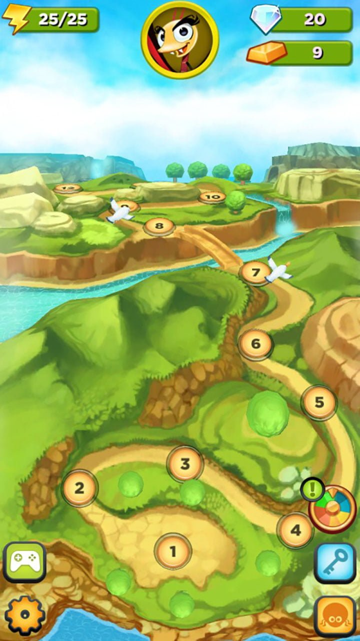 Best Fiends Map