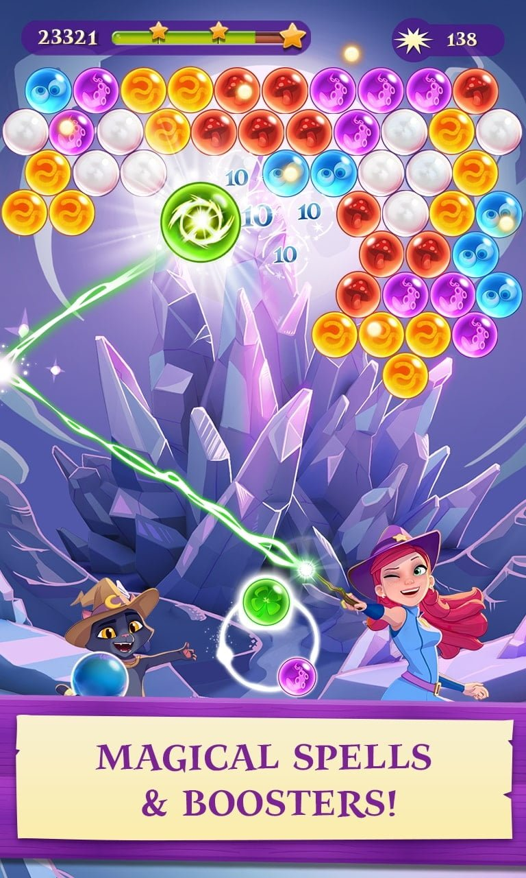 Bubble Witch 3 Saga Gameplay