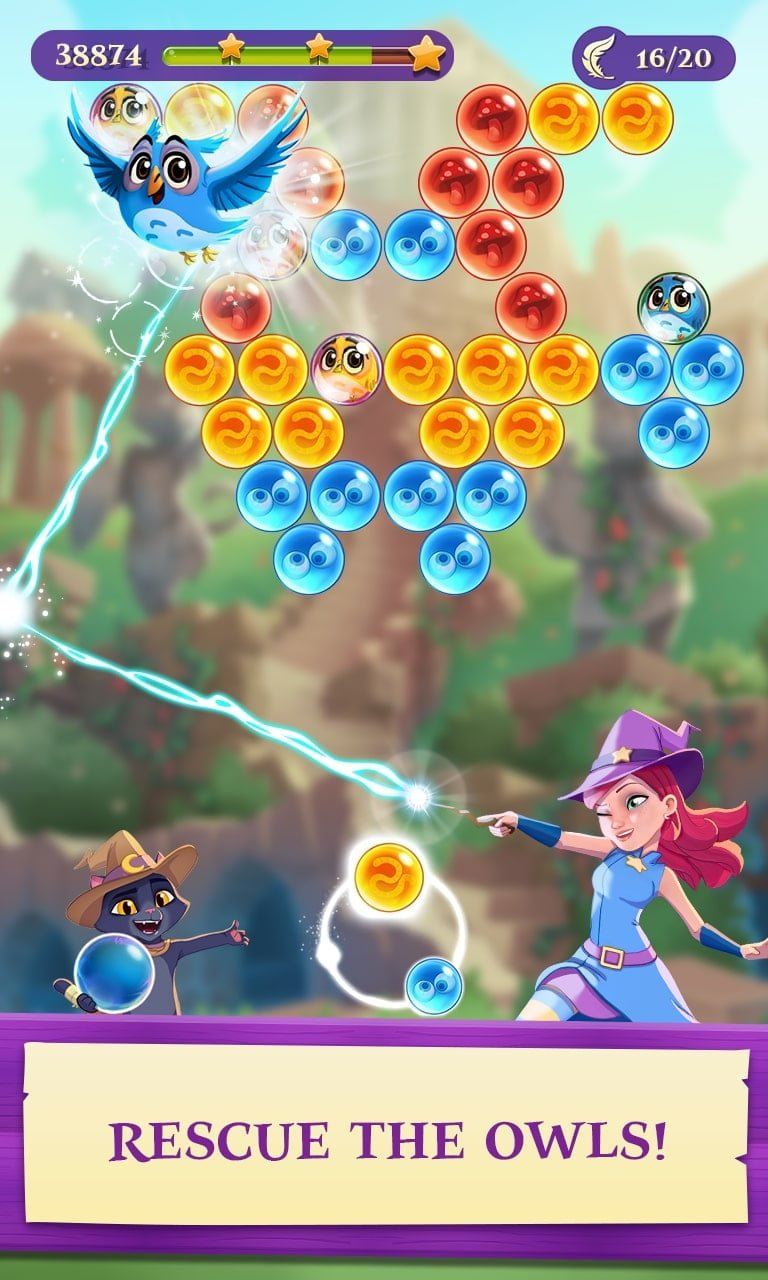 Bubble Witch 3 Saga Resue Friends