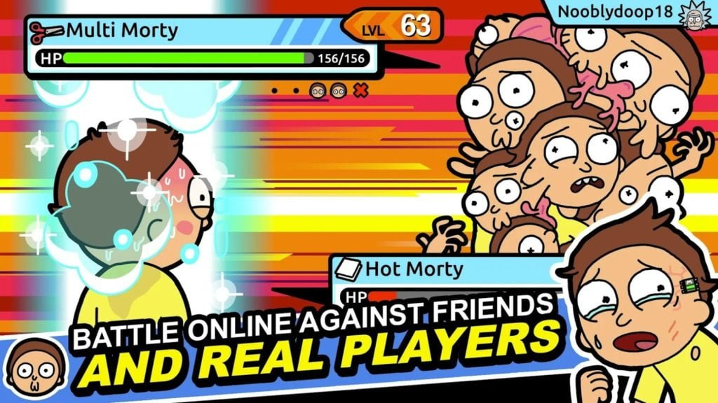 Rick and Morty Pocket Mortys online mode 1024x576