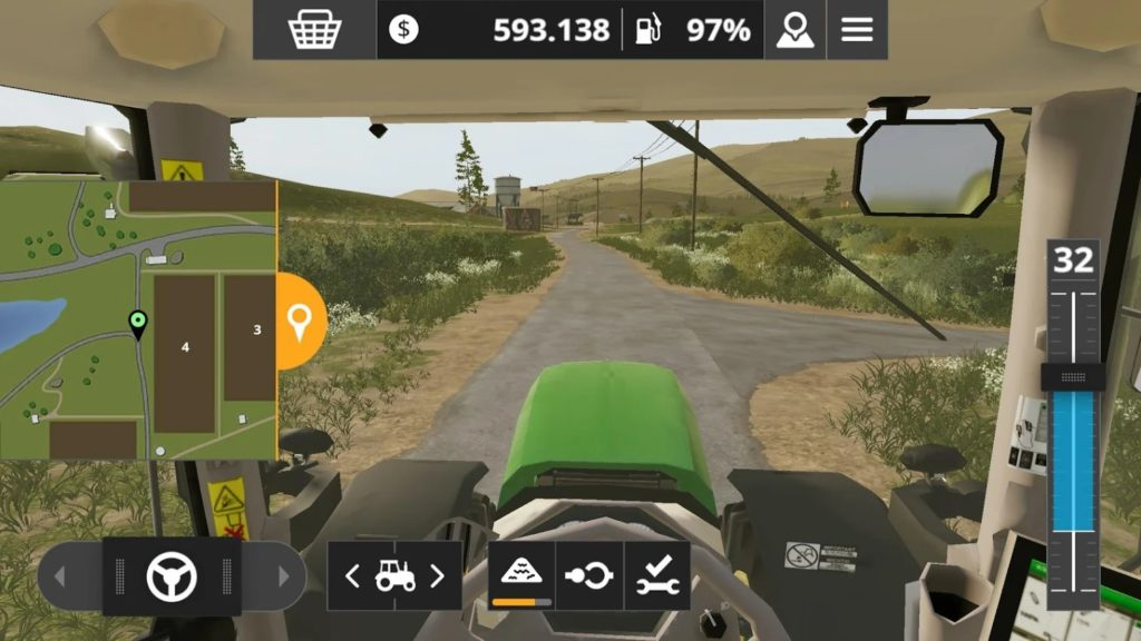 Farming Simulator 20 driving 1024x576
