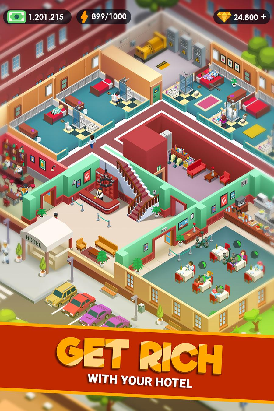 Hotel Empire Tycoon Gameplay