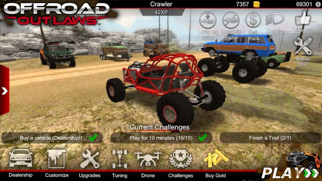 This image has an empty alt attribute; its file name is Offroad-Outlaws-mod-apk-1024x576.jpg