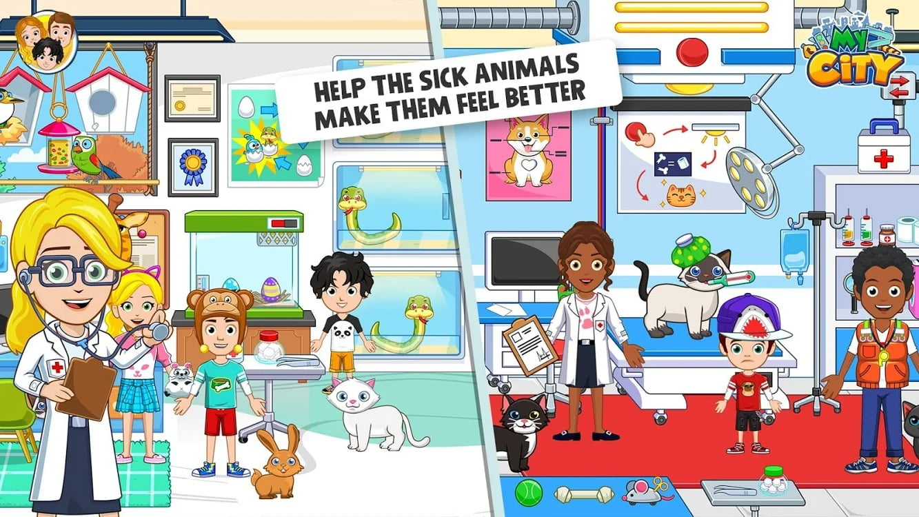 My City Animal Shelter graphics