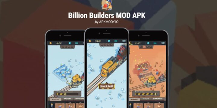 Billion Builders MOD APK cover 720x360