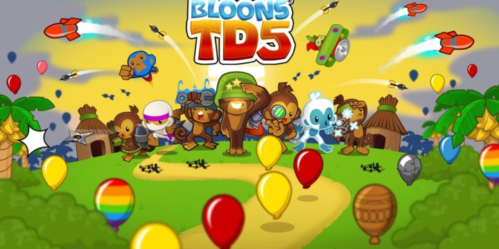Bloons TD 5 MOD APK cover 720x360