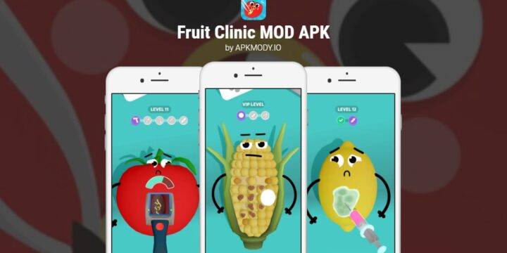 Fruit Clinic MOD APK cover 720x360