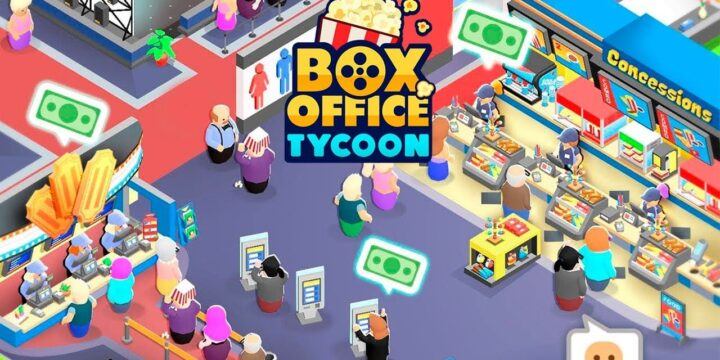 Box Office Tycoon MOD APK cover 720x360