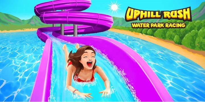 Uphill Rush Water Park Racing MOD APK cover 720x360