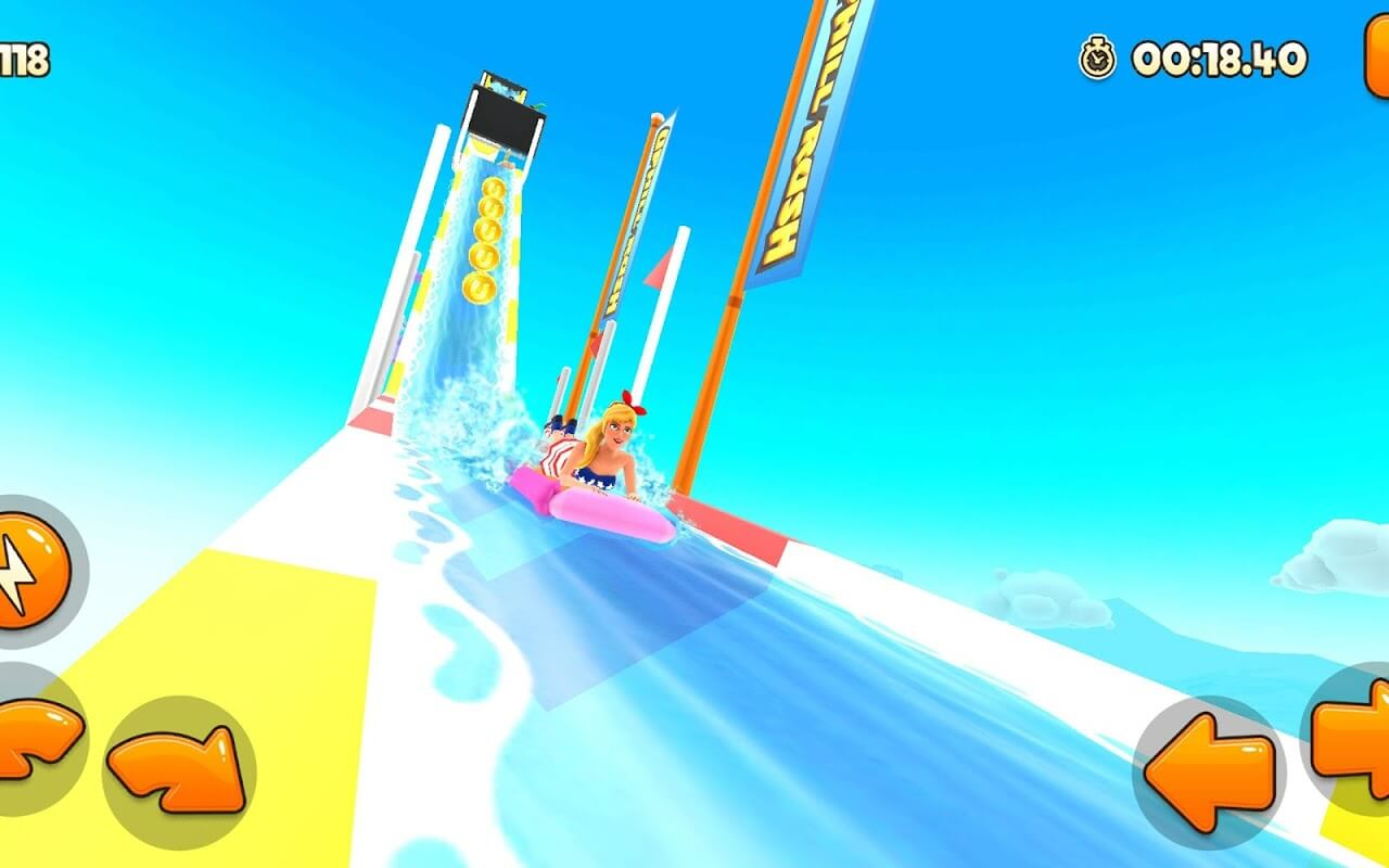 Uphill rush water park racing Gameplay