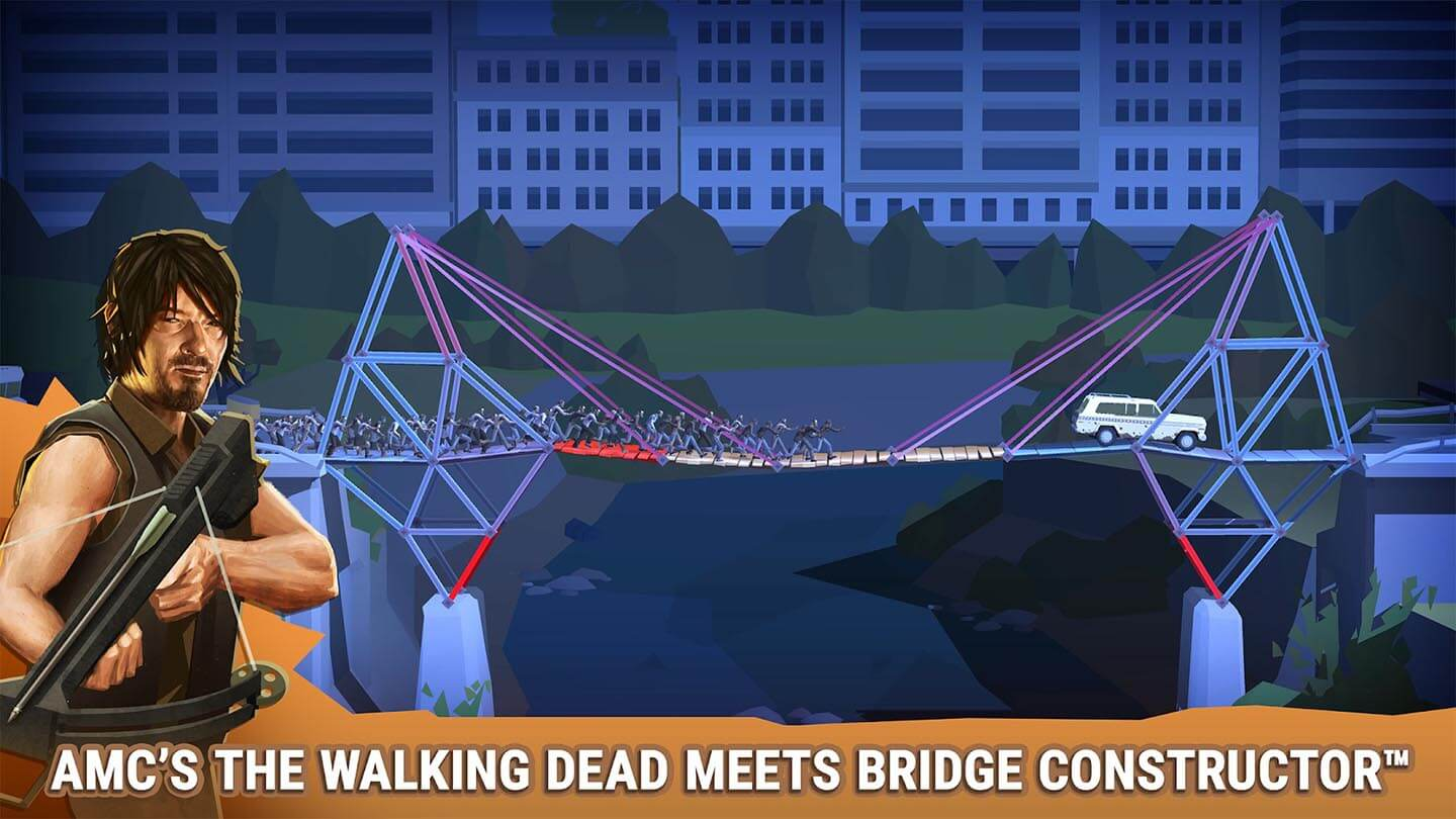 Bridge Constructor The Walking Dead gameplay