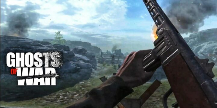 Ghosts of War WW2 Shooting games MOD APK cover 720x360