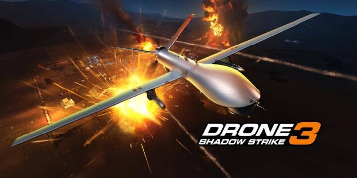 Drone Shadow Strike 3 MOD APK cover 720x360