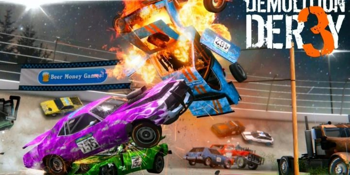 Demolition Derby 3 MOD APK cover 720x360