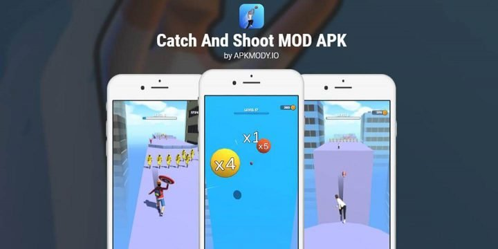 Catch And Shoot MOD APK cover 720x360