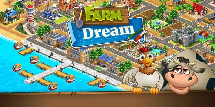 Farm Dream MOD APK cover 720x360