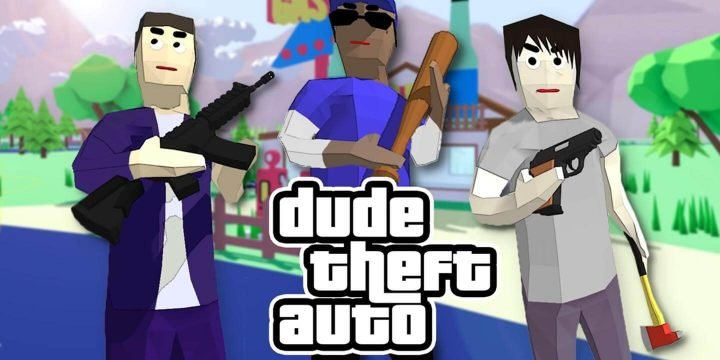 Dude Theft Wars MOD APK cover 720x360