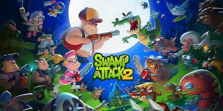 Swamp Attack 2 MOD APK cover 720x360